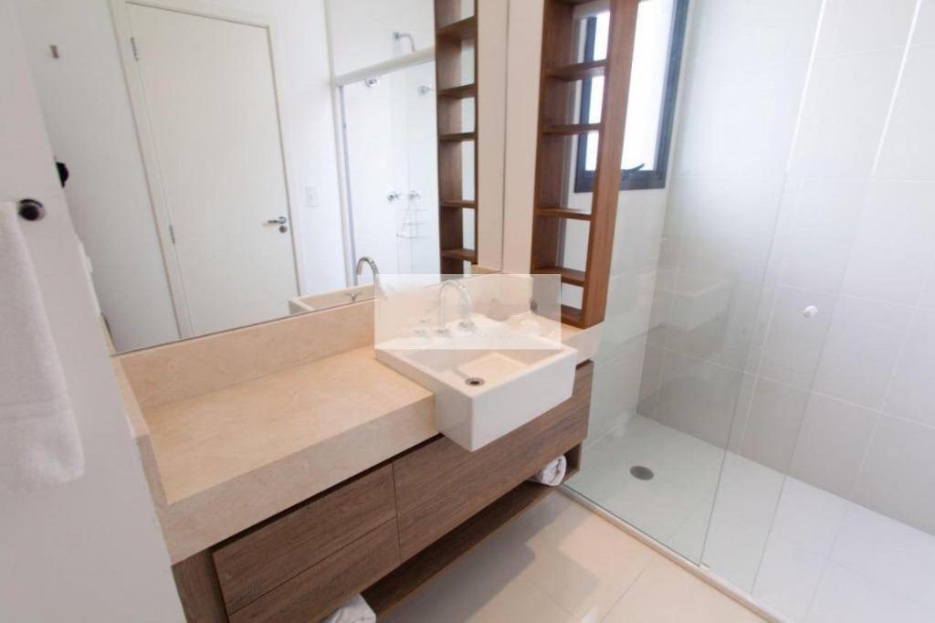 Flat com 1 dormitório para alugar, 66 m² por R$ 5.900/mês - Vila Olímpia - São Paulo/SP