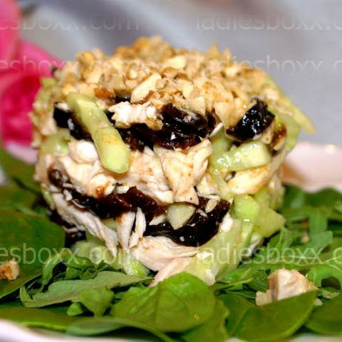Salad With Chicken And Prunes For Dinner