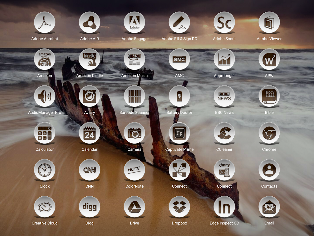 Daf Dark Wood - Icon Pack Screenshot 9