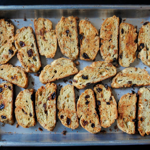 Parmesan Biscotti with Pine Nuts and Raisins