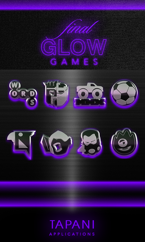 icon pack HD 3D glow purple Screenshot 2