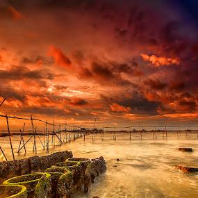 Tanjung Kait by Mc Pujiyanta - Landscapes Sunsets & Sunrises ( beatiful, waterscape, sunset, landscape photography, beach, landdscape, seascape, landscapes, photography, golden hour,  )