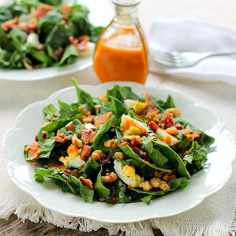Fresh Spinach Salad with Dressing