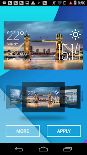 Tower Bridge weather widget - screenshot