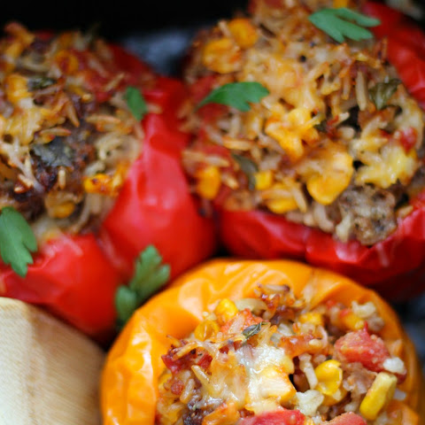 Southwestern Slow Cooker Stuffed Peppers