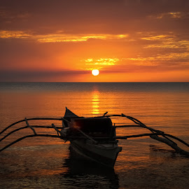 Fishing Boat by Mario Borg - Transportation Boats ( serenity, sunset, boat )