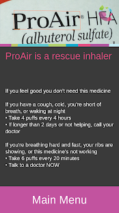 Asthma Inhaler Assistant screenshot for Android