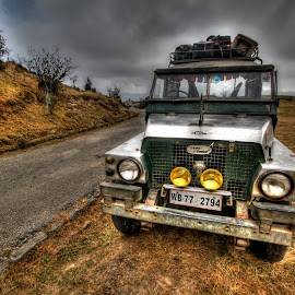 Land Rover on the way to Sandakphu by Biman Sarkar - Transportation Automobiles ( sandakphu, hdr, trekking, road, landrover,  )