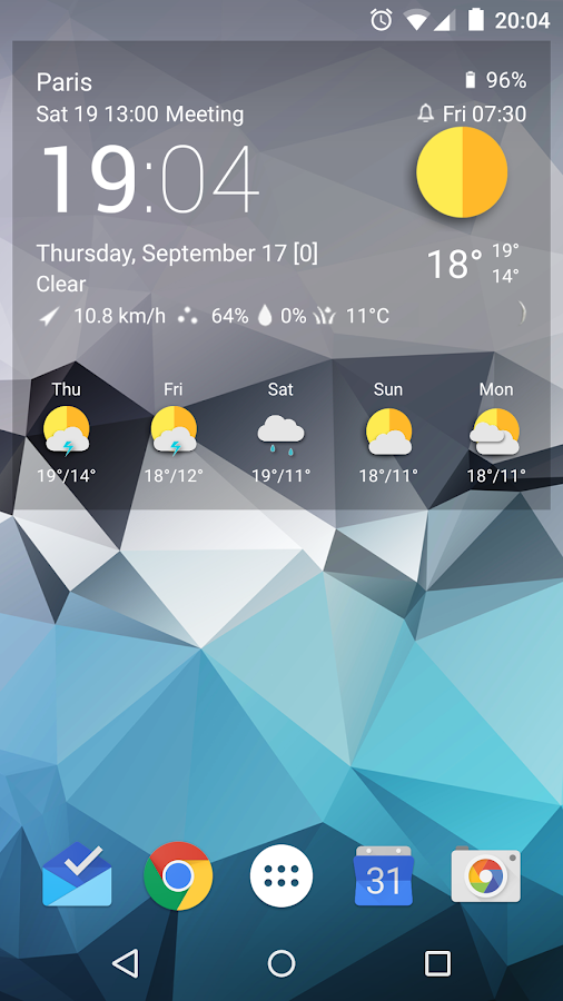 TCW material weather icon pack Screenshot 2