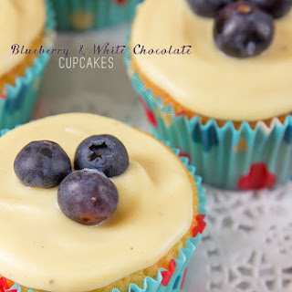 Blueberry and White Chocolate Cupcakes