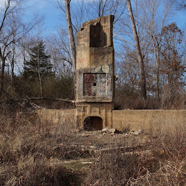 by Jim Harris - Buildings & Architecture Public & Historical ( monte ne, stone, ruins, fireplace, stone fireplace, abandoned )