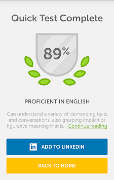 Duolingo English Test APK screenshot thumbnail 3