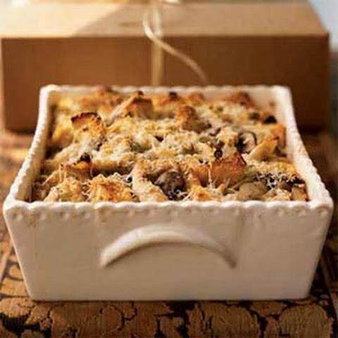 Fontina and Parmesan Mushroom Bread Pudding Recipe | Yummly