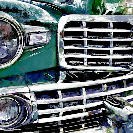 Vintage Lincoln by Leslie Clement - Novices Only Objects & Still Life ( car, lincoln, photomatix, grill, vintage, automobile, chrome )
