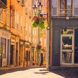 Shadows and Contrasts by Agnirudra Sikdar - City,  Street & Park  Neighborhoods ( contrasts, grasse, street, france, roads )