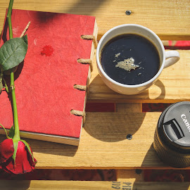 Coffee and love by Lakshya Sharma - Food & Drink Alcohol & Drinks ( #love #coffee #drinks #camera #rose,  )