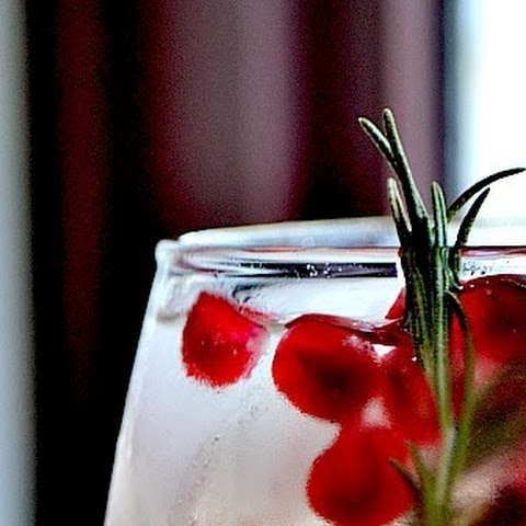Pomegranate and Rosemary White Sangria