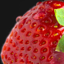 Strawberry by Massimo Formica - Food & Drink Fruits & Vegetables ( fruit, drops, seeds, spring, strawberry )