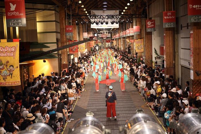 第61回よさこい祭り☆本祭2日目・はりまや橋競演場33☆上1目1456