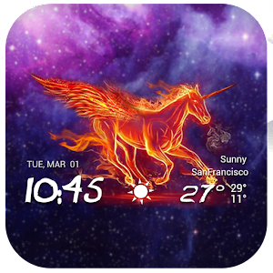 Download Ponyta Fire Horse WeatherClock For PC Windows and Mac