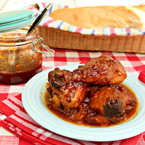 Smoked Chicken with Chipotle Peach Barbecue Sauce