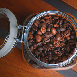 roasted by Adjie Tjokrosoedarmo - Food & Drink Alcohol & Drinks ( coffee beans, jar, drink, roasted )
