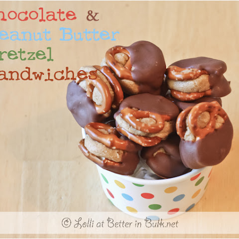 Chocolate & Peanut Butter Pretzel Sandwiches