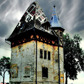 Palic Serbia by Zeljko Secujski - Buildings & Architecture Public & Historical ( tower, serbia storm clouds, hdr, lake, castle, subotica, palic )