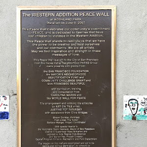 The Western Addition Peace Wall at Koshland Park