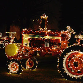 Lit Tractors by Pamela Chandra - Public Holidays Halloween ( lights, halloween )