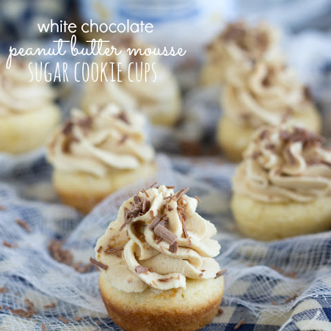 Peanut Butter Mousse Sugar Cookie Cups