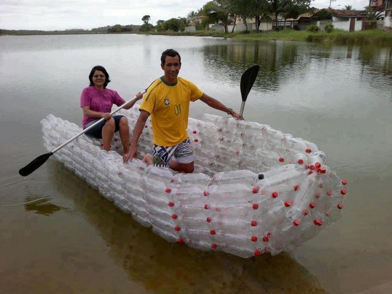 Лодка из пластиковой бутылки своими руками