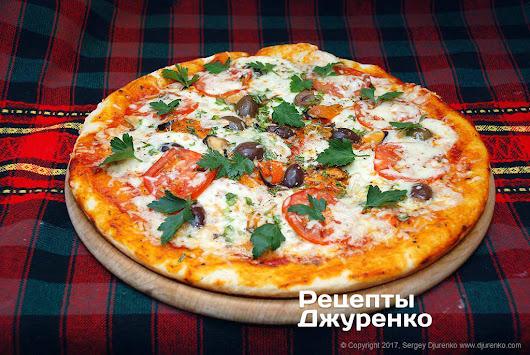 Пицца с мидиями рецепт