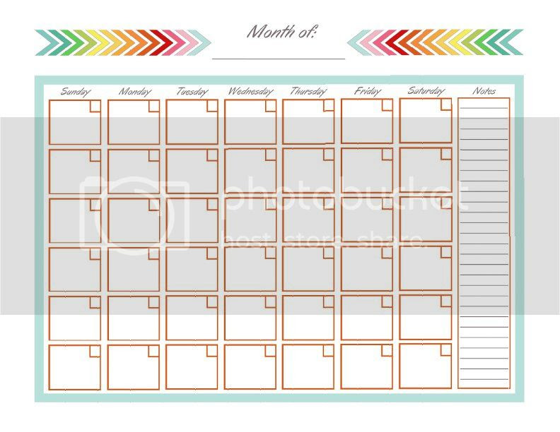 Cute Printable Blank Calendar – September printable calendars