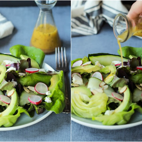 Fresh Avocado Butter Lettuce Salad with Lemon Vinaigrette