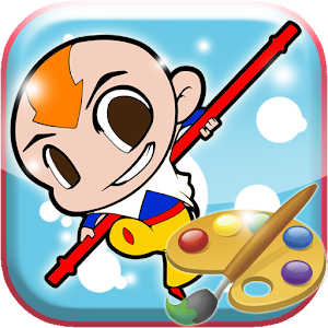 Coloring Avtar Aang Airbender for Android