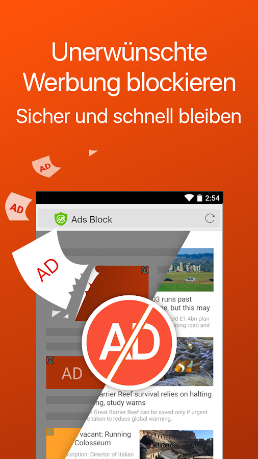 CM Browser - Adblock, schneller Download, Datenschutz android apps download
