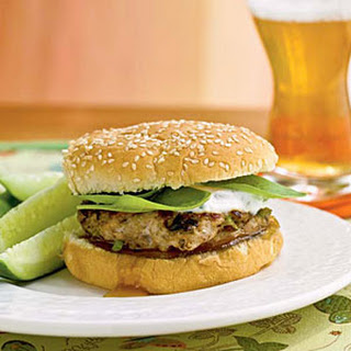 Indian-Spiced Chicken Burgers