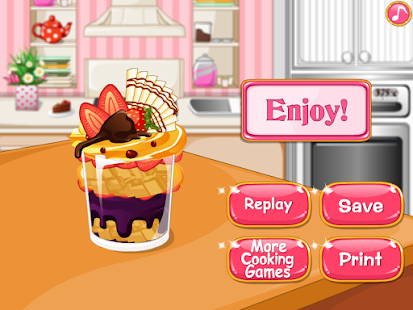 Cooking cake  ice cream game- screenshot