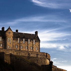 The Edinburgh Castle by Paschalis Angelopoulos - Travel Locations Landmarks ( scotland, tower, edinburgh, castle, edinburgh castle )