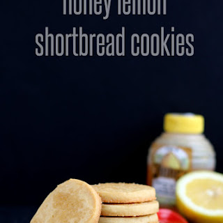 Honey Lemon Shortbread Cookies