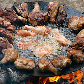 hungry ? by Bery Foto - Food & Drink Meats & Cheeses ( grill, food, meat, outdoor, grilled, fire )