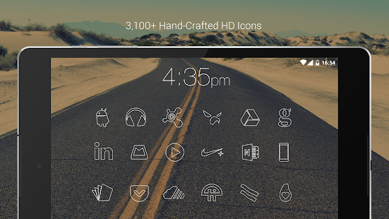 Lines - Flat Minimalist Icons- screenshot thumbnail