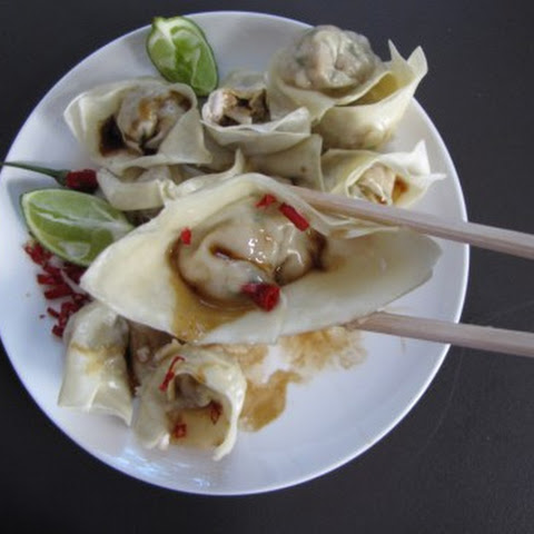Steamed Pork and crab Wontons
