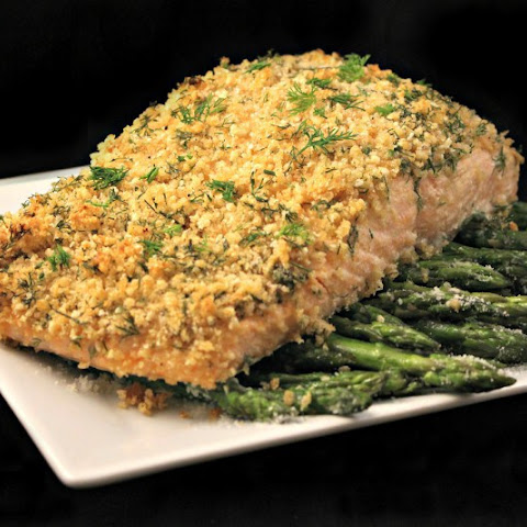 Quick and Easy Pecan-Crusted Dijon Salmon Recipe | Yummly