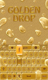 Golden Drops GO Keyboard Theme - screenshot