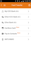 Screenshot of ICICI Mobile Banking - iMobile