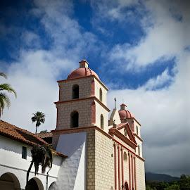 Spanish Mission at Santa Barbara by Michael Villecco - Buildings & Architecture Public & Historical