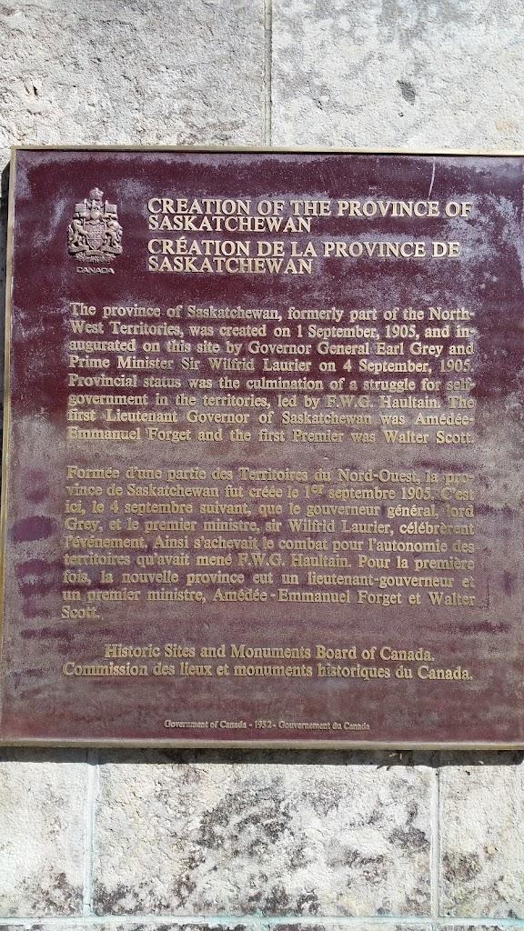 Province of Saskatchewan inauguration site.