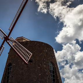 Crown Bay Windmill by Debbie Jones - Buildings & Architecture Public & Historical ( st thomas, caribbean, windmill, crown bay )